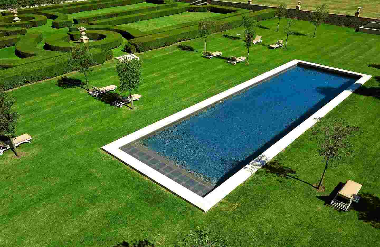 Concrete ground pools by Diffazur