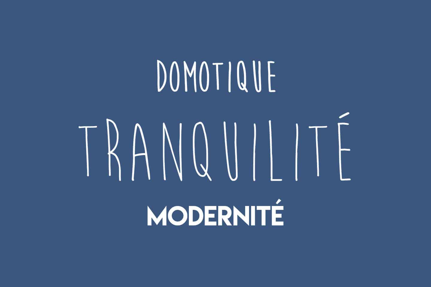 Domotique Tranquilité Modernité